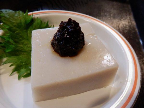 フキ味噌そば豆腐 400円
